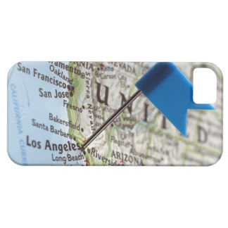 Map pin placed on Los Angeles, California on iPhone 5 Cover