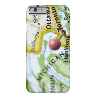 Map pin placed on Toronto, Canada on map, Barely There iPhone 6 Case