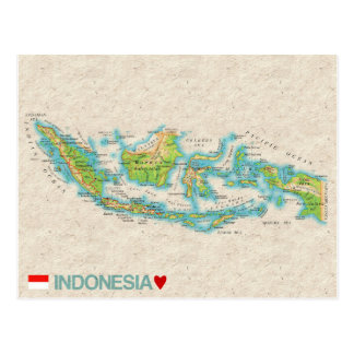 MAP POSTCARDS ♥ Indonesia