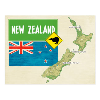 MAP POSTCARDS ♥ New Zealand