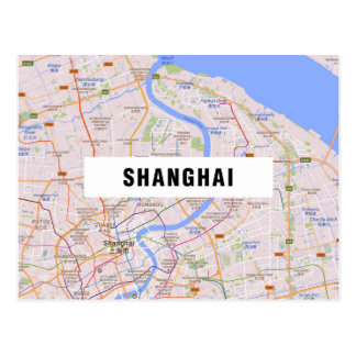 MAP POSTCARDS ♥ Shanghai