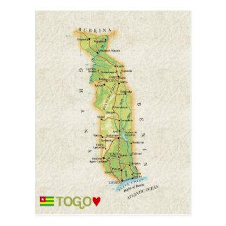 MAP POSTCARDS ♥ Togo