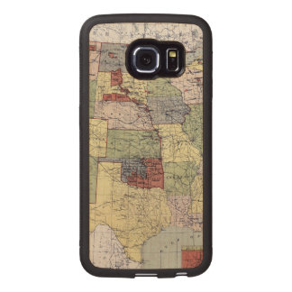 MAP: RESERVATIONS, 1892 WOOD PHONE CASE