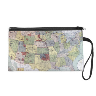 MAP: RESERVATIONS, 1892 WRISTLET PURSE