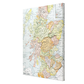 MAP: SCOTLAND CANVAS PRINT