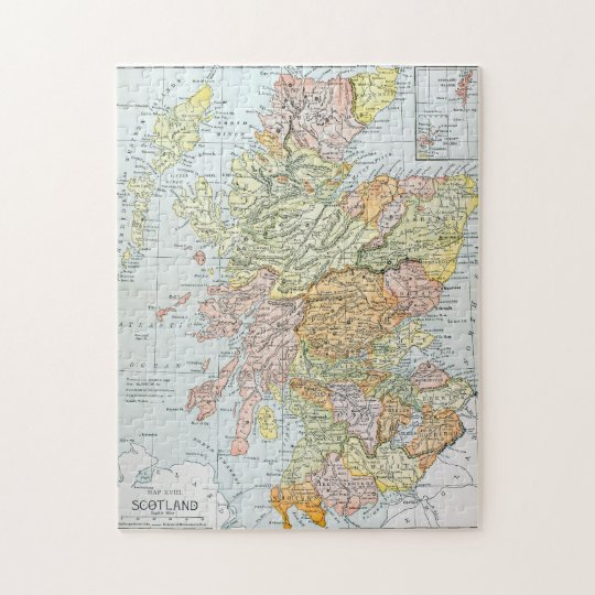 MAP: SCOTLAND JIGSAW PUZZLE