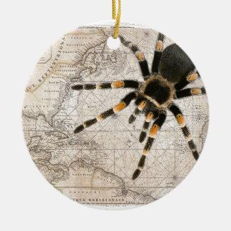 map spider ceramic ornament