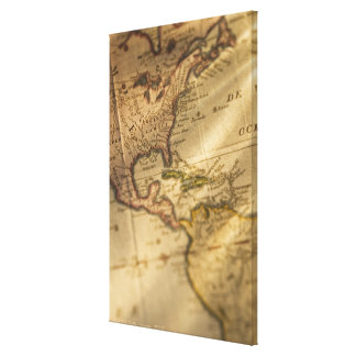Map Stretched Canvas Print