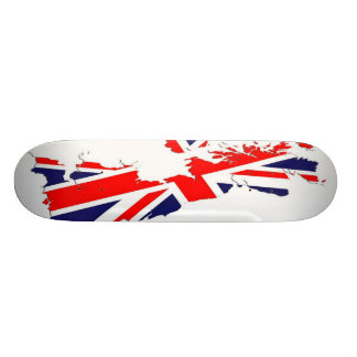Map UK  Flag Skate Board