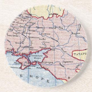 MAP: UKRAINE, c1906 Beverage Coasters