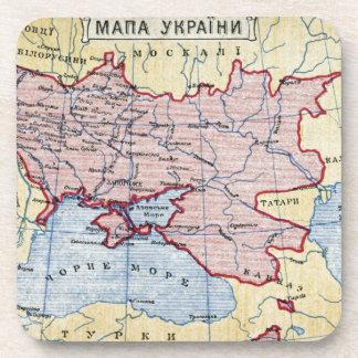 MAP: UKRAINE, c1906 Drink Coaster