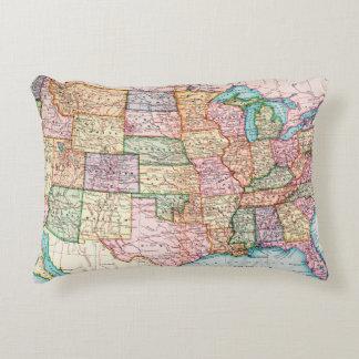 Map: United States, 1905 Decorative Cushion