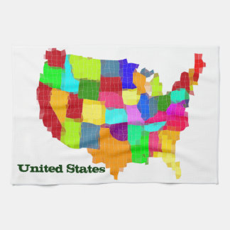Map - United States Hand Towel