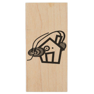 Maple, 8gb, Rectangle Wood USB Flash Drive