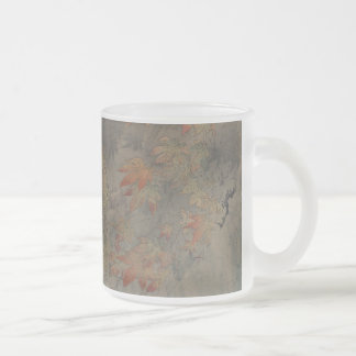 Maple Branch Frosted Glass Coffee Mug