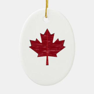 Maple Fever Ceramic Ornament