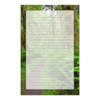 Maple Glade trail, ferns and moss covered Customised Stationery