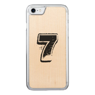maple jersey carved iPhone 8/7 case