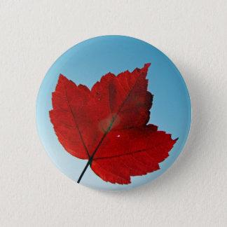 maple leaf 6 cm round badge