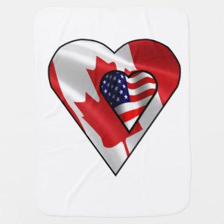 """""""Maple Leaf American"""" Baby Blanket"""