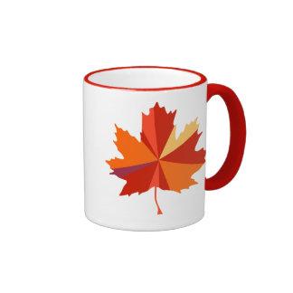 Maple Leaf Art Mugs