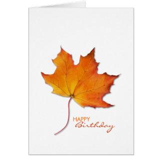 Maple Leaf Birthday Note Card