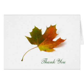 Maple Leaf  by Petr Kratochvil, Thank You Card
