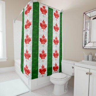Maple Leaf Camo Shower Curtain