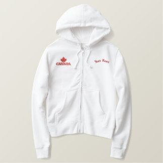 Maple Leaf Canada Customized Embroidered Hoodie