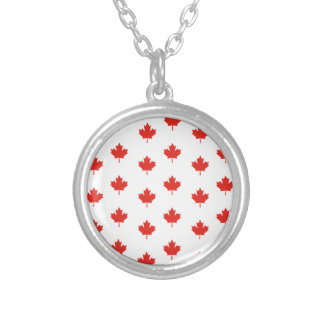 Maple Leaf Canada Emblem Country Nation Day Silver Plated Necklace