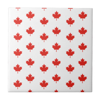 Maple Leaf Canada Emblem Country Nation Day Tile