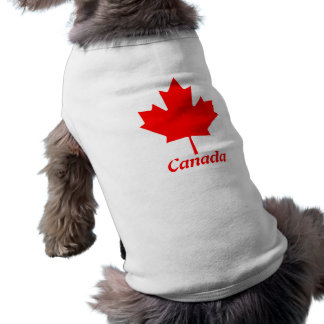 Maple Leaf Canada Sleeveless Dog Shirt