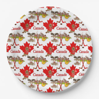 Maple Leaf Canadian 150 Anniversary 9 Inch Paper Plate