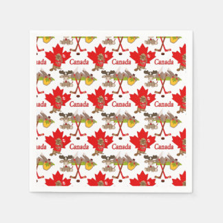 Maple Leaf Canadian Disposable Serviette