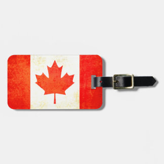 Maple Leaf Canadian flag luggage tag