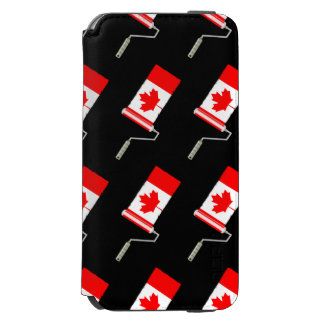 Maple Leaf Canadian Flag Paint Roller Incipio Watson™ iPhone 6 Wallet Case