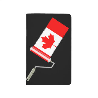 Maple Leaf Canadian Flag Paint Roller Journal