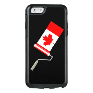 Maple Leaf Canadian Flag Paint Roller OtterBox iPhone 6/6s Case