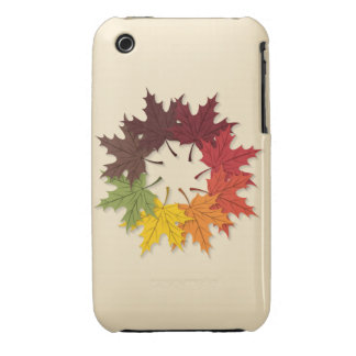 Maple leaf circle Case-Mate iPhone 3 cases