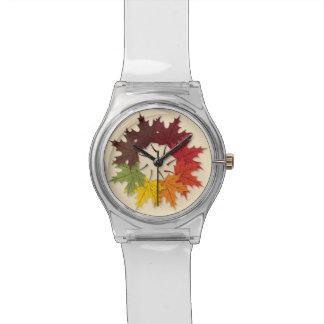 Maple leaf circle wrist watch