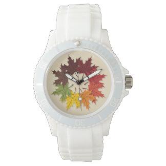 Maple leaf circle wrist watches