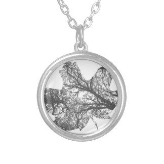 Maple Leaf Design Round Pendant Necklace
