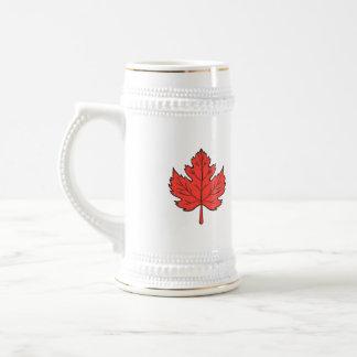 Maple Leaf Drawing Beer Stein