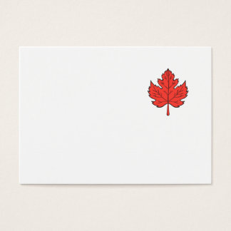 Maple Leaf Drawing Business Card