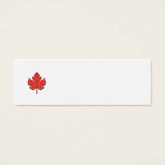 Maple Leaf Drawing Mini Business Card