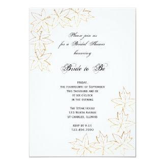 Maple Leaf Edge Bridal Shower Invitation