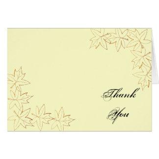 Maple Leaf Edge Bridesmaid Thank You Note Card