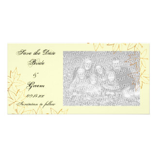 Maple Leaf Edge Wedding Save the Date Photo Card