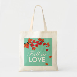 Maple Leaf Falling in Love Autumn Grocery Bag
