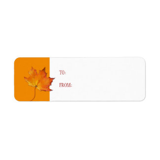 Maple Leaf Gift Tag Label Return Address Label